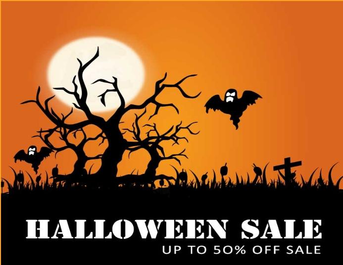 Halloween sale flyer Folder (US Letter) template