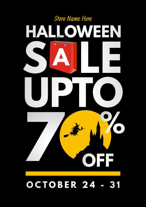 Halloween Sale Flyer A4 template