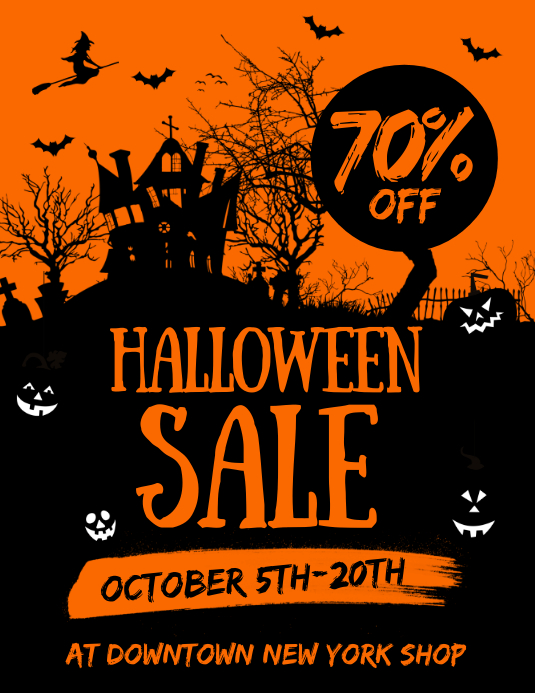 Halloween Sale Flyer Pamflet (VSA Brief) template