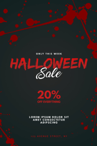 Halloween Sale Flyer Design Template