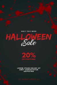 Halloween Sale Flyer Design Template
