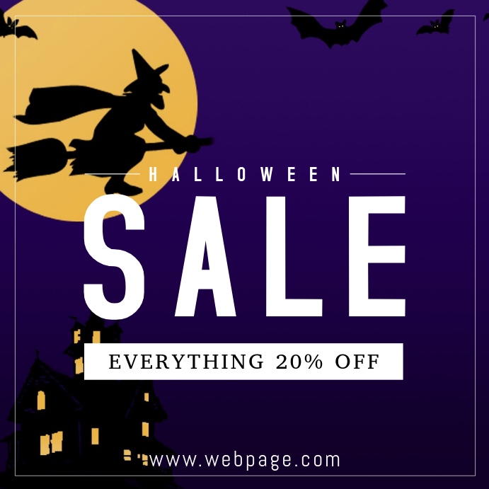 Halloween sale instagram post template