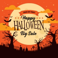 Halloween Sale off background Instagram Post template