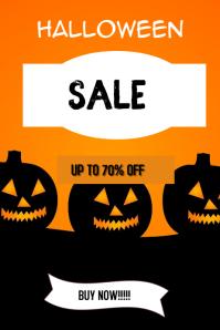 Halloween sale poster Iphosta template