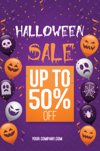 Halloween Sale Poster Template