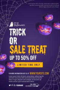Halloween Sale Treat Poster template