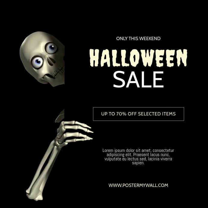Halloween Sale Video Design Template