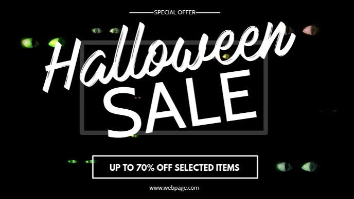 Halloween Sale video facebook Design Template