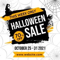 halloween sales instagram post banner adverti template