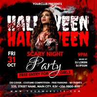 halloween scary night party Post Instagram template