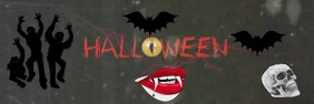 Halloween scary video banner
