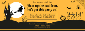 Halloween Sepia Potluck Facebook Banner Invitation Template