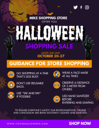 Halloween Shopping Guidelines Covid-19 Flyer (US Letter) template