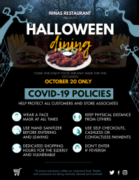 Halloween Shopping Guidelines Flyer template