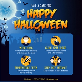 Halloween Shopping Guidelines Social Media Po Instagram Post template