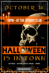 Halloween Skull Event Poster template