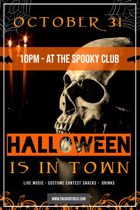 Halloween Skull Event Poster Plakat template