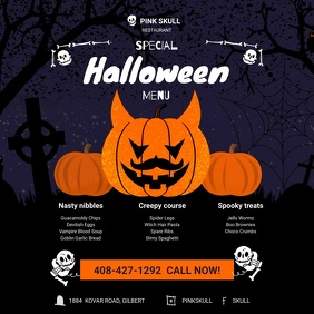 Halloween special menu Instagram Plasing template