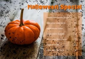 Halloween Special menu A4 template