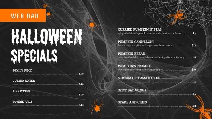 Halloween Special Menu Digital Display Video
