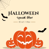 Halloween special offer ad Wpis na Instagrama template