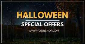 Halloween Special Offer Deal Sale Promo Video โฆษณา Facebook template