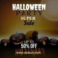 Halloween Special offer social media post template