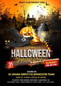 Halloween Special Party Flyer A4 template