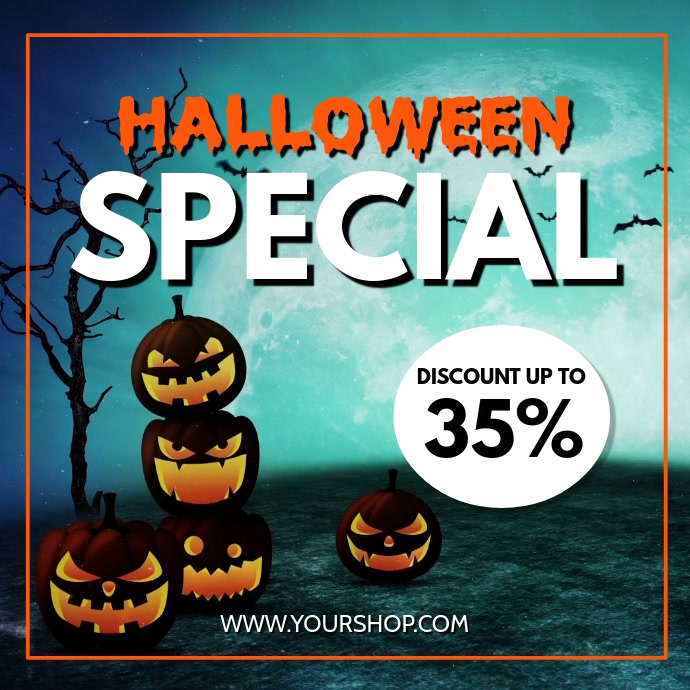 Halloween Special Sale Discount Offer Promo