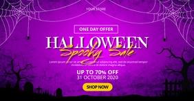 Halloween Spooky Sale Gambar Bersama Facebook template