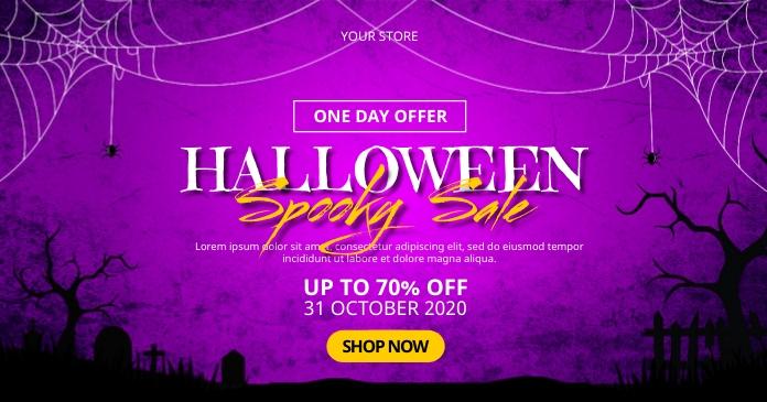 Halloween Spooky Sale Image partagée Facebook template