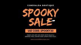 Halloween Spooky Sale Facebook Cover Video