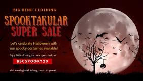 Halloween Spooky Sale Facebook Cover Video