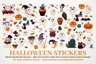 Halloween Stickers Printable Template Etykieta