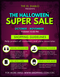 Halloween Store Covid-19 Shopping Guidelines Flyer (US Letter) template