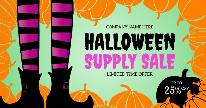 Halloween Supply Sale Facebook Share Image template