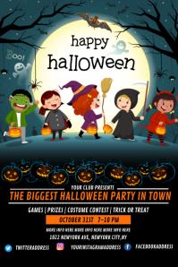 halloween template, Halloween party Poster