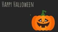 Halloween Template Vídeo de capa do Facebook (16:9)