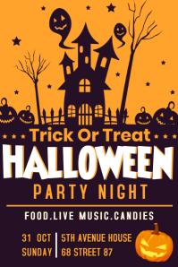 Halloween template Plakkaat