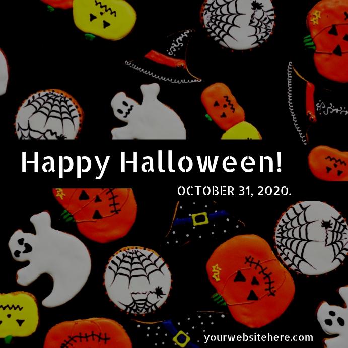 Halloween Template Instagram-bericht