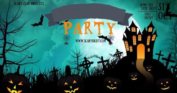 Halloween Template Gambar Bersama Facebook