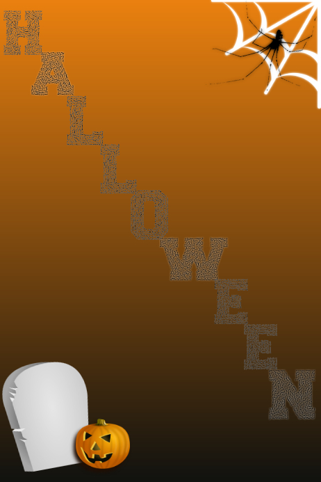 Halloween Template Poster