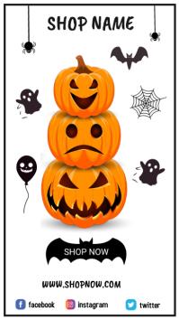 Halloween Template Digital na Display (9:16)