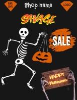 Halloween Template Volante (Carta US)