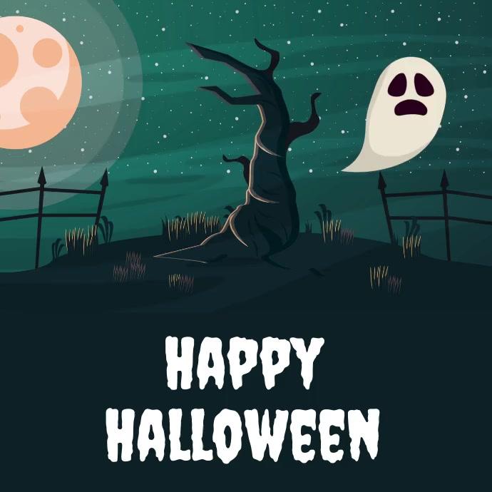 halloween template Publicación de Instagram