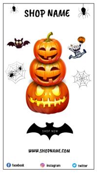 Halloween Template Flyer งานแสดงผลงานแบบดิจิทัล (9:16)