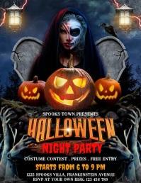 Halloween terror night party, Halloween Flyer (US Letter) template