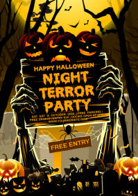 HALLOWEEN TERROR NIGHT PARTY A4 template
