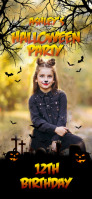 Halloween themed birthday party filter Snapchat Geofilter template