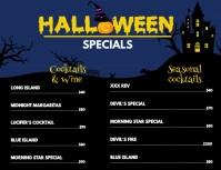 Halloween themed menu template Flyer (US Letter)